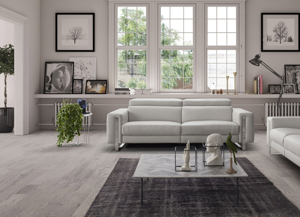 leather sofas tampa sectional chaise sofa bed genuine living room fl whiteline adriano sku 301091