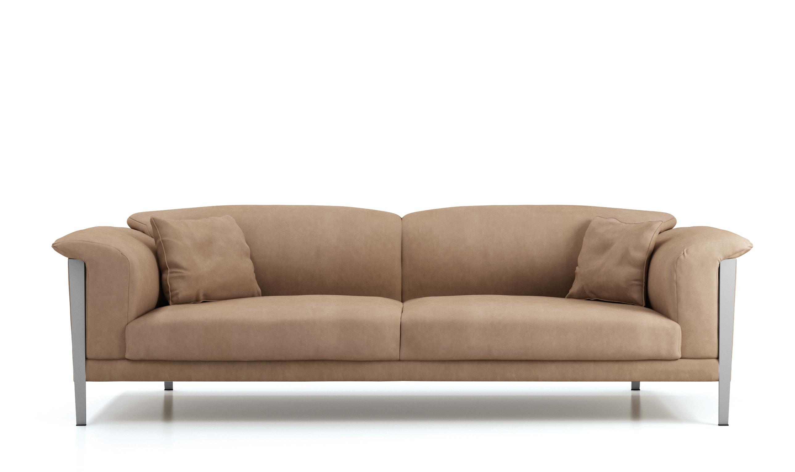 Cream Color Extra Soft Padded Leather Sofa Set Sacramento