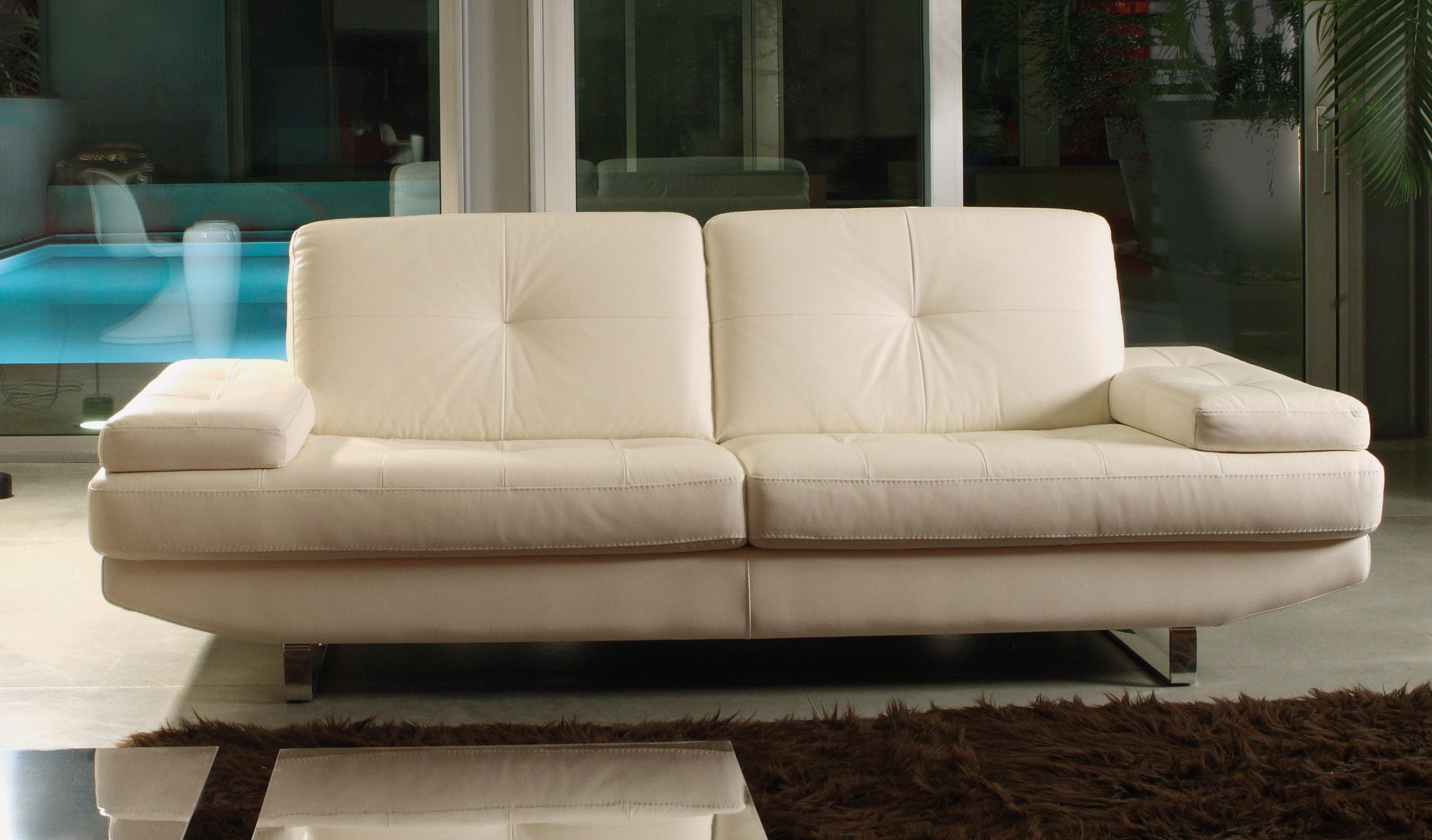 off white sofa sets istikbal regata bed sylish cream italian leather 2 pieced living room set