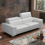 Modern Living Room Sofa In Italian Leather Miami Beach Fl Whiteline Flavio