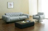 Top Grain Italian Leather Contemporary Sofa Set Phoenix ...