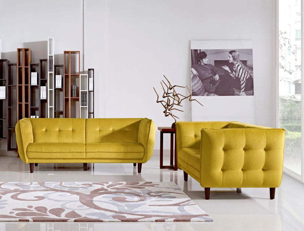Yellow Sofa Set How To Design With And Around A Yellow Living Room Sofa  TheSofa
