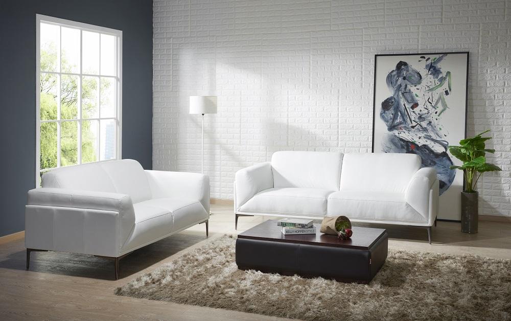 leather sectional sofa sacramento sleeper for cabin manhattan contemporary white set ...