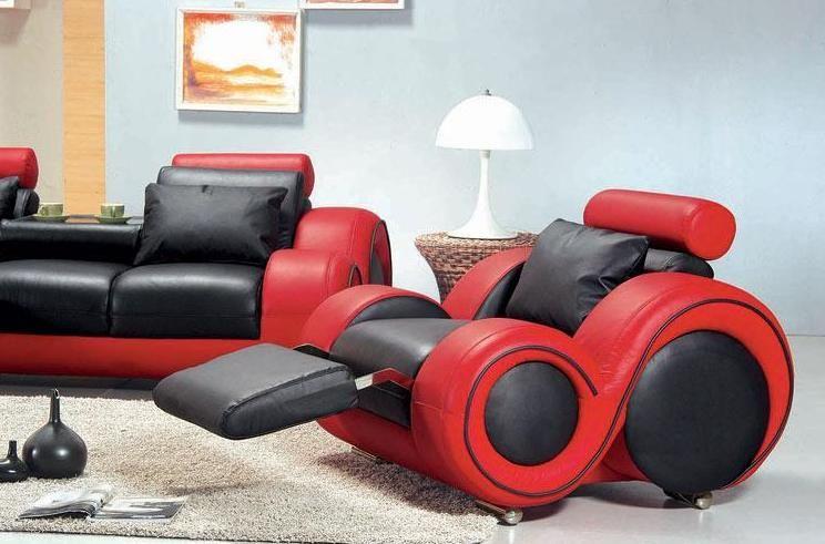 black and red leather sofa aspen convertible bed contemporary set atlanta georgia v 4088