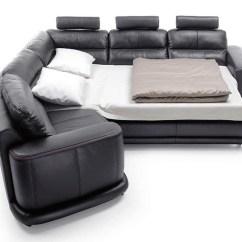 Italian Leather Sofa Sleeper Barcalounger Contemporary Sectional In San