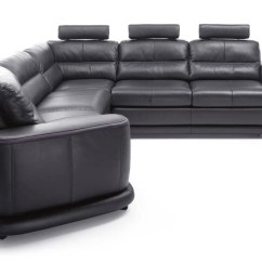 Italian Leather Sofa Sleeper Modern Office Contemporary Sectional In San