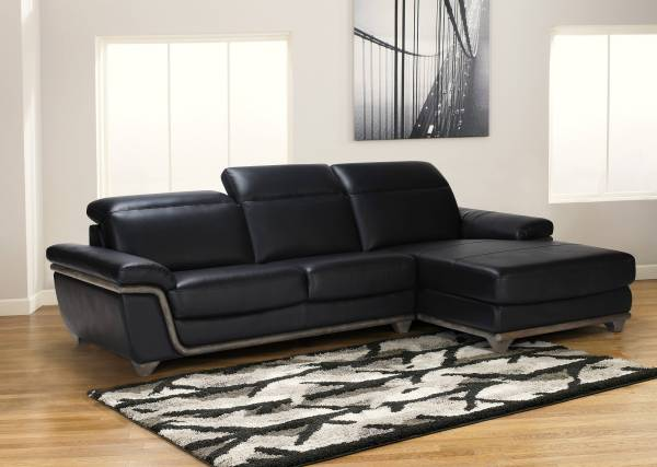 Leather Sectional Sofas with Wood
