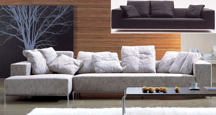 wide sofas seattle sofa divan sectional w lots of loose cushions and arms fabric couches corner