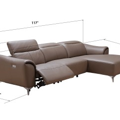 Genuine Leather Sectional Sofa With Chaise Chesterfield Dfs Luxurious Baltimore Maryland