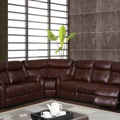 Leather Corner Sofa Spain Sectional Coffee Table Traditional Brown Or Burgundy With Reclining ...