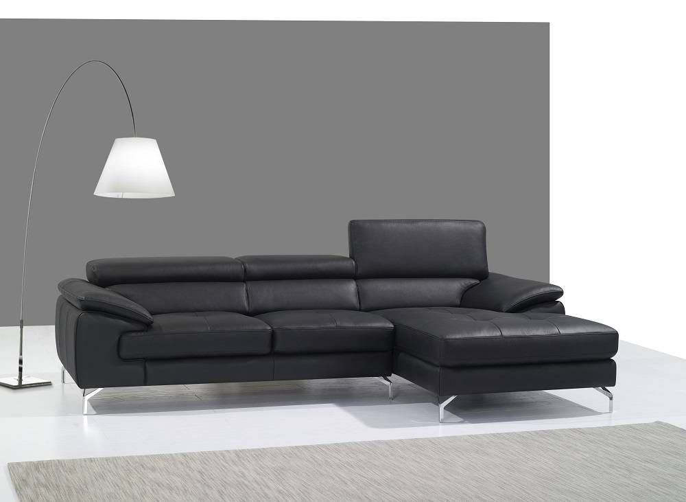 remarkable black or red italian leather sectional sofa