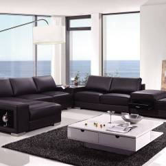 Large Plush Sectional Sofa Small Space Sleeper High End Covered In Bonded Leather Philadelphia ...