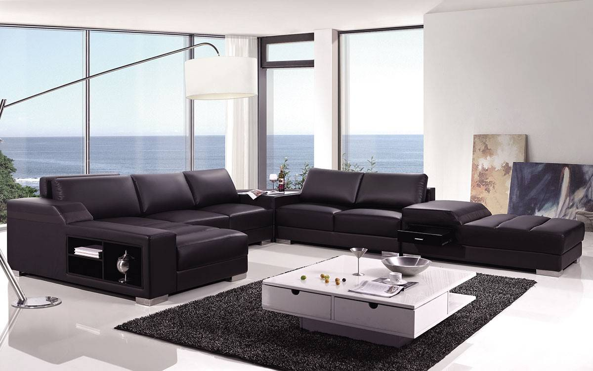 modern white compact leather sectional sofa small corner with chaise high end s ...