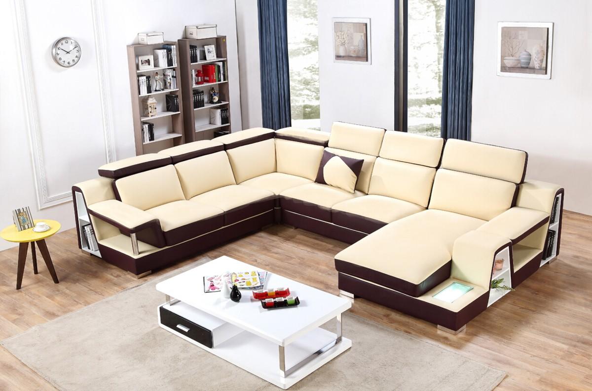 advanced adjustable italian top grain leather sectional sofa