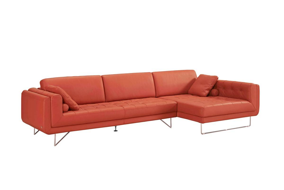 corner sofa metal legs how to clean upholstery naturally graceful sectional upholstered in real leather scottsdale