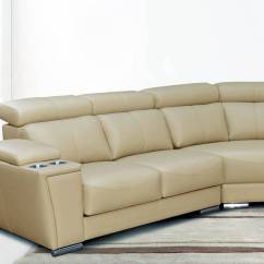 Huge Leather Sectional Sofa Artisan Cream Italian Extra Large With Cup