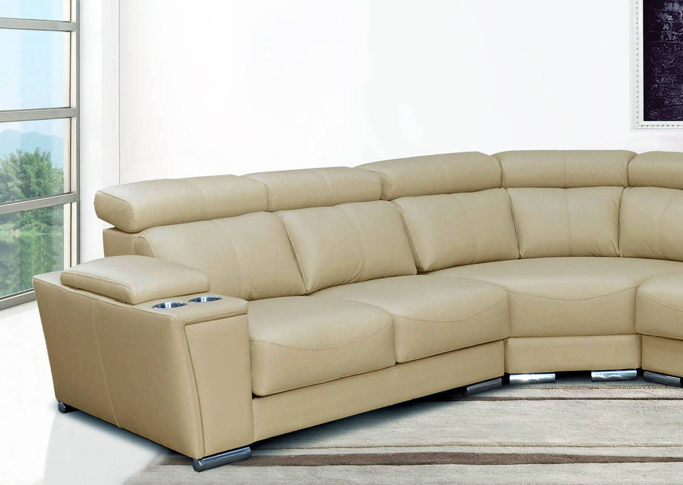 very large sectional sofas dwell stylus sofa bed cream italian leather extra with cup
