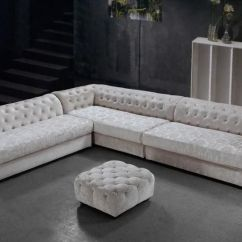 Microfiber Living Room Furniture Ideas Color Graceful Tufted Bridgeport Couches Corner Sectional Sofas