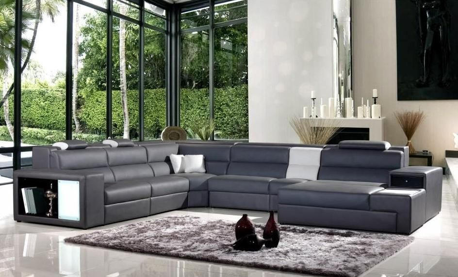 genuine leather sectional sofa with chaise long chair exotic half new orleans ...