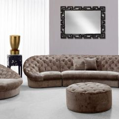 Contemporary Fabric Sofas Microfiber Sectional Sofa Costco Set With Matching Ottoman And Couches Corner
