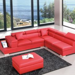 Living Room Furniture Sets Austin Tx Dark Grey Red Color Sectional Sofa Upholstered In High Quality Leather Genuine And Italian Corner Sofas