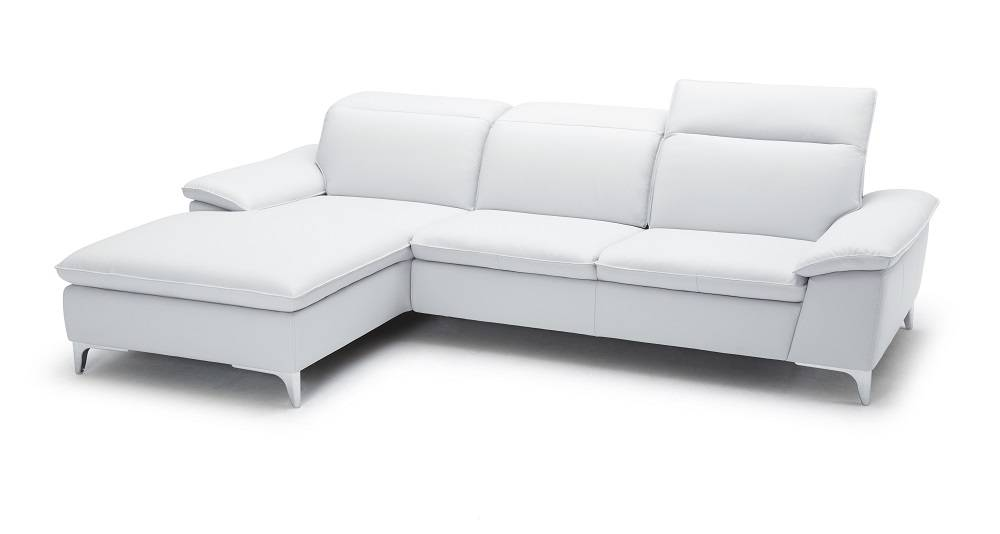 White Two Piece Sectional Sofa with Ratchet Headrest San Diego California JMFurniture1911