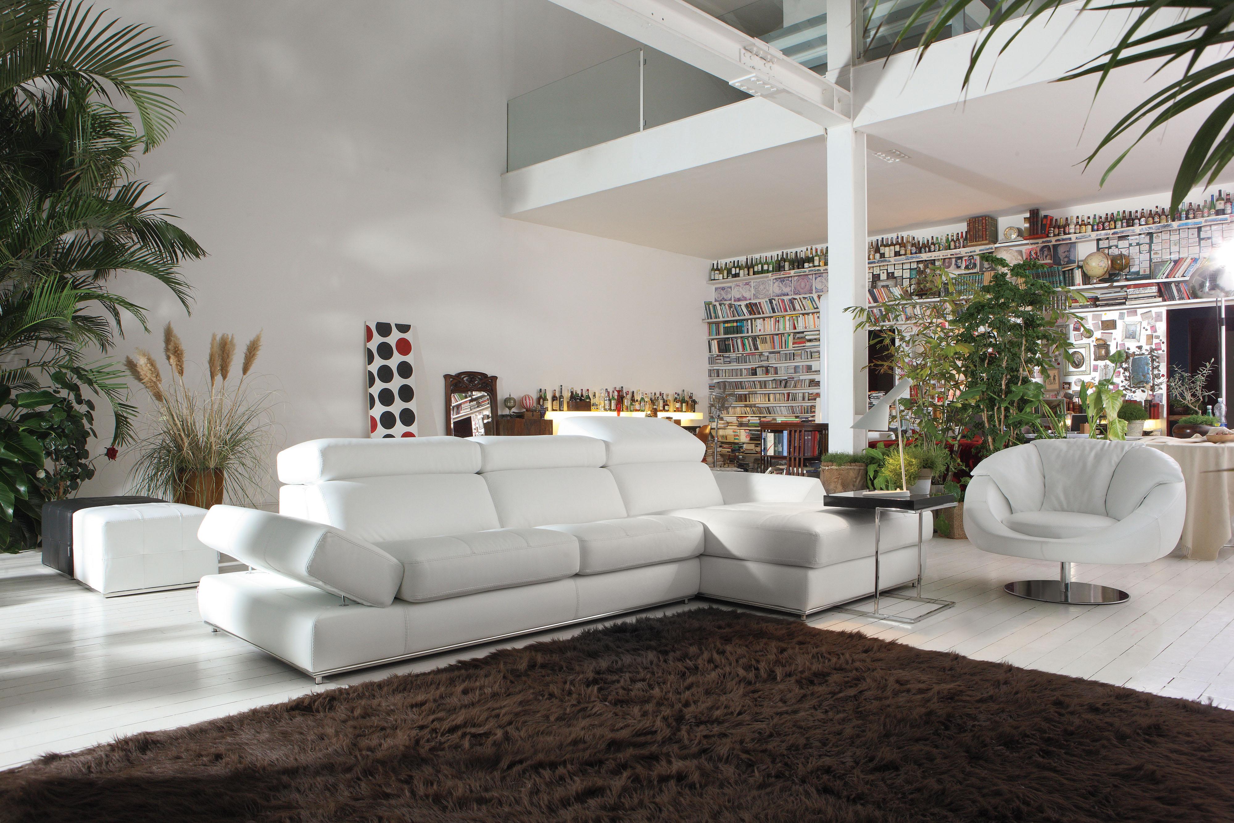 easy to clean white leather sofa futon sleeper furniture simple design top grain italian