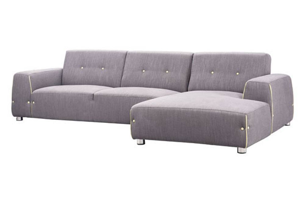 Contemporary Modern Fabric Sectional Sofa in Two Unique Colors Long Beach California ZLINK