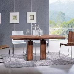 Contemporary Kitchen Table Cutlery Extendable Rectangular Wooden Italian 5 Piece Set
