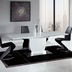 Modern Black Chair Set Wedding Cover Hire Grimsby Contemporary And White Dining With Elegant