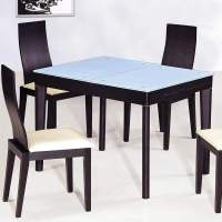 Contemporary Functional Dining Room Table in Black Wood ...