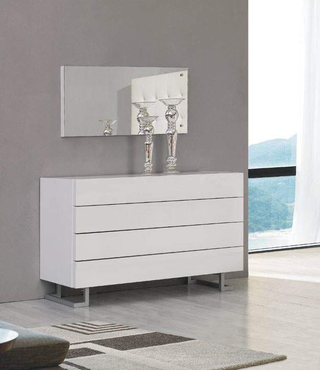 Elise Dresser in White or Black Luxury Lacquer on Stylish Legs Prime Classic Design modern