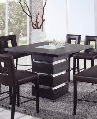 Wenge Contemporary Counter Height Bar Table Prime Classic ...