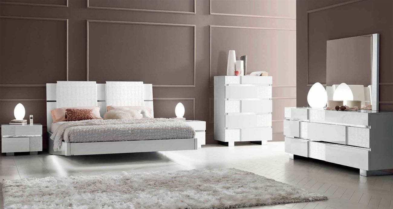 White High Gloss Bedroom Furniture Sets