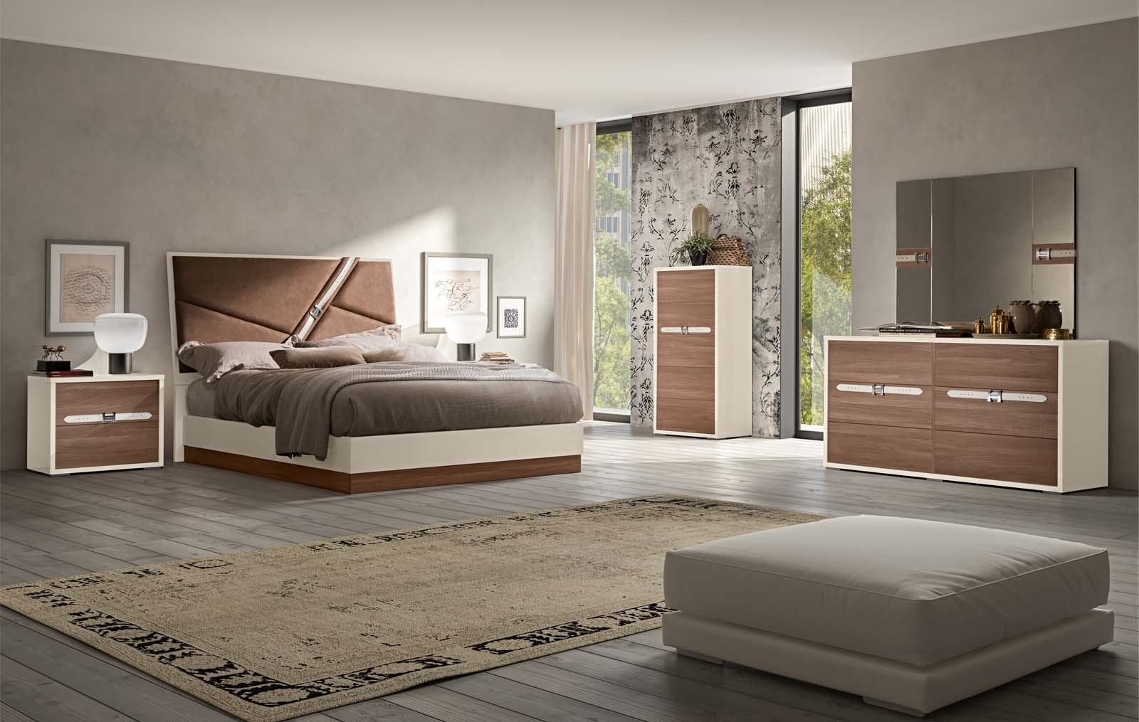 made in italy wood designer bedroom furniture sets with optional storage system