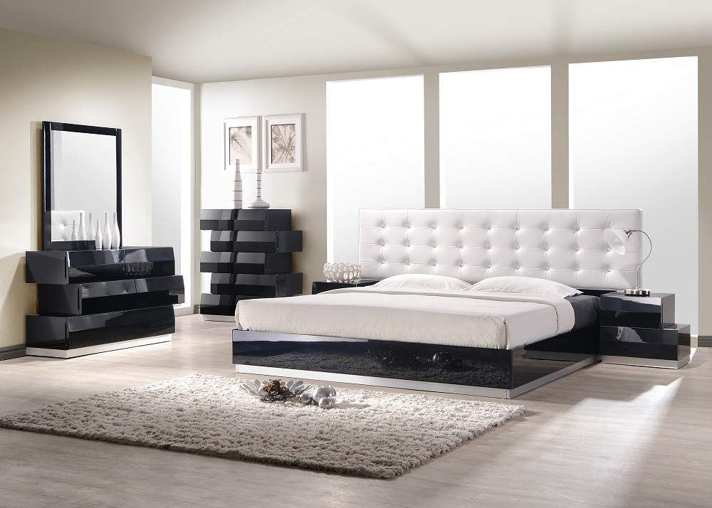 Exquisite Leather Modern Master Beds with Storage Cases Buffalo New York JMFurnitureMilan