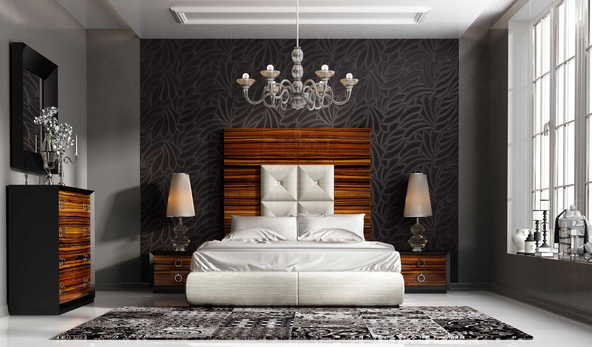 Highclass Leather High End Bedroom Furniture Sets in