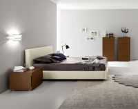 Lacquered Made in Spain Wood High End Platform Bed ...