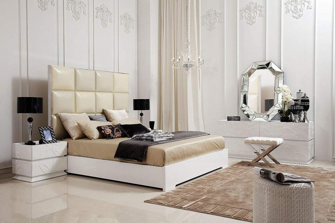 Unique Transitional and Contemporary Luxury Bedroom Set Furniture St Petersburg Florida V8C004