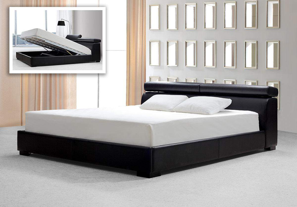 Elegant Leather Luxury Elite Bedroom Furniture With Extra