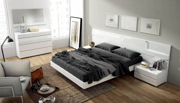 modern bed design bedroom Made in Spain Quality Modern Contemporary Bedroom Designs with Extra Storage Columbus Ohio ESF-Sara