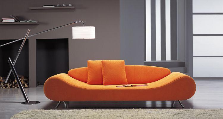 leather corner sofa spain with ottoman to make bed contemporary orange harmony unique shape prime ...
