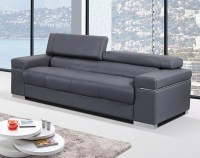 Contemporary Sofa Upholstered In Grey Thick Italian ...