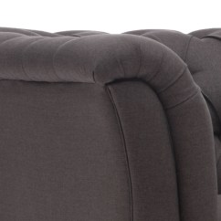 Charcoal Gray Tufted Sofa Expensive Bed Traditional Style Soft Or Beige Fabric
