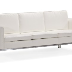 Steel Frame Sofa Martino Leather 2 Piece Sectional Metal Sd141 C Tufted With