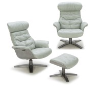 Futuristic Modern Leather Upholstered Swivel Lounge Chair ...