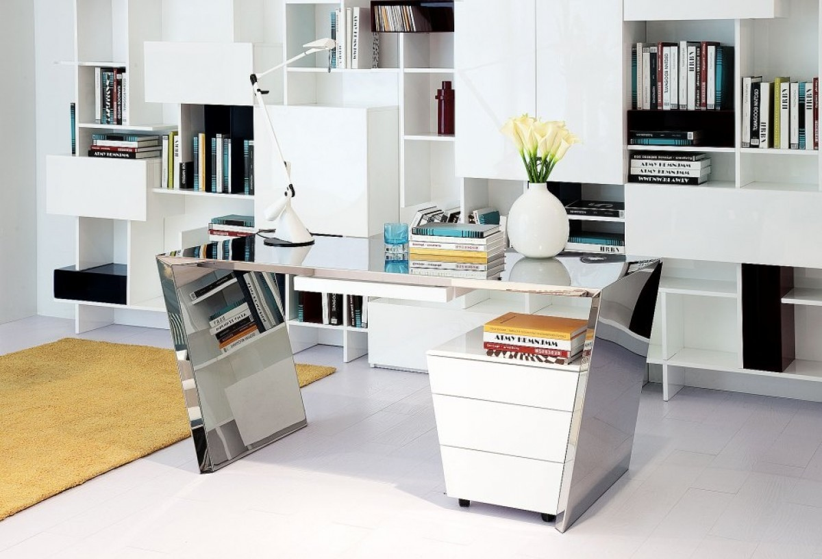 modern white office chairs crate and barrel canada accent desk furniture with reflective surfaces los angeles
