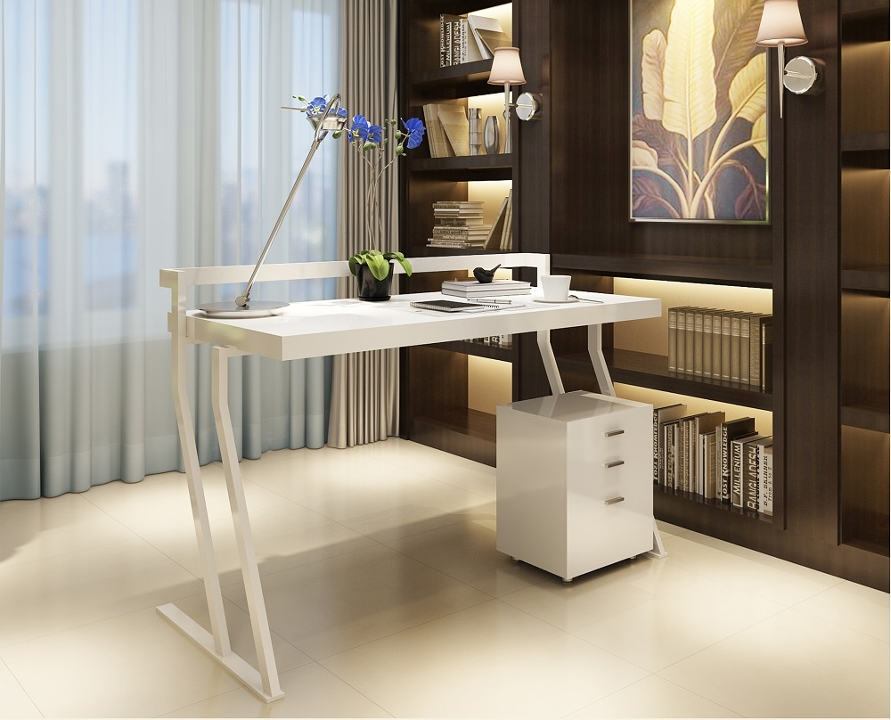 Contemporary Office Desk with Unique Shaped Legs