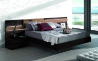 Lacquered Made in Spain Wood Elite Platform Bed with Large ...