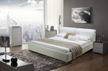 Graceful Leather Modern Platform Bed San Jose California